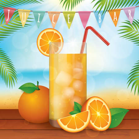 orange juice: fresh orange juice