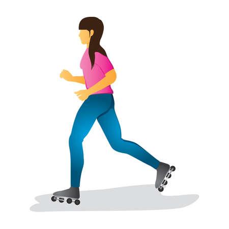 roller skates: woman on roller skates