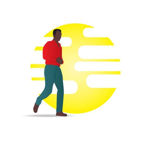 full figure: man walking