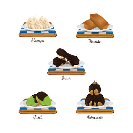 meringue: collection of french food