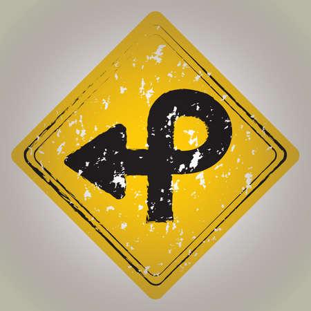 bucle: pretzel señal de tráfico de bucle