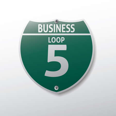 bucle: business loop 5 route sign Vectores
