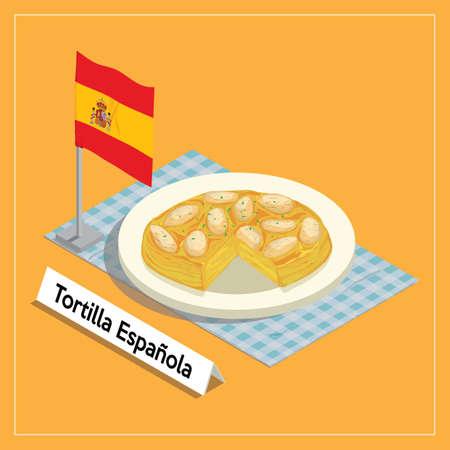 main course: tortilla espanola served on plate