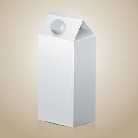 paperboard packaging: blank carton pack Illustration
