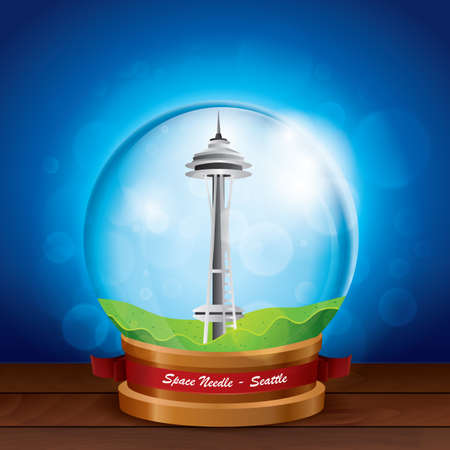 space needle: space needle in crystal ball