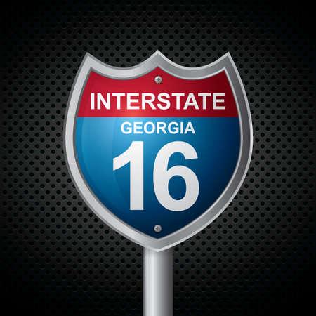 16: georgia 16 route sign