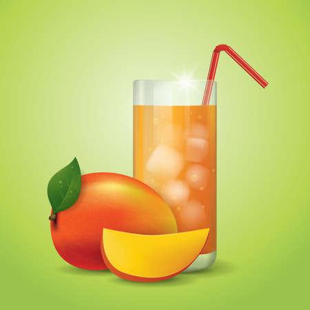 mango slice: mango juice and slice