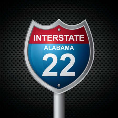 alabama: alabama 22 route sign