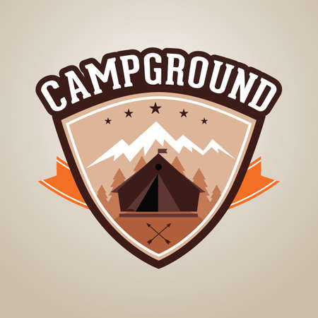 alps: campground Illustration