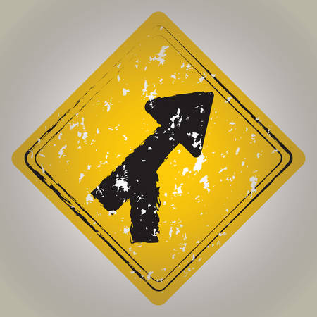 roadway: roadway merge road sign Illustration