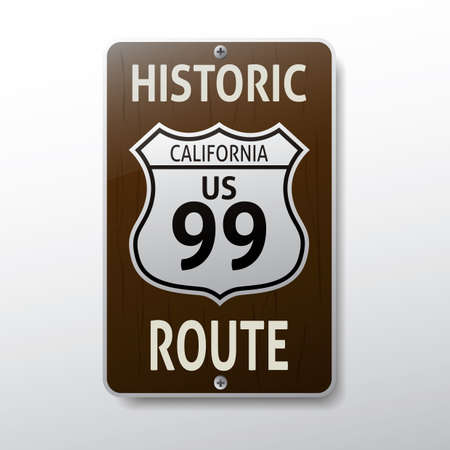 99: california 99 route sign