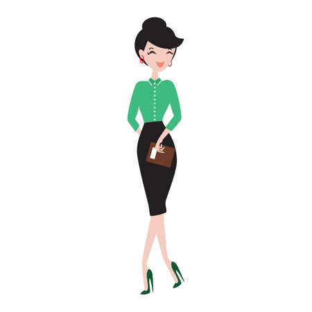 fashionable woman: fashionable woman Illustration