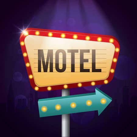 motel: motel sign Illustration