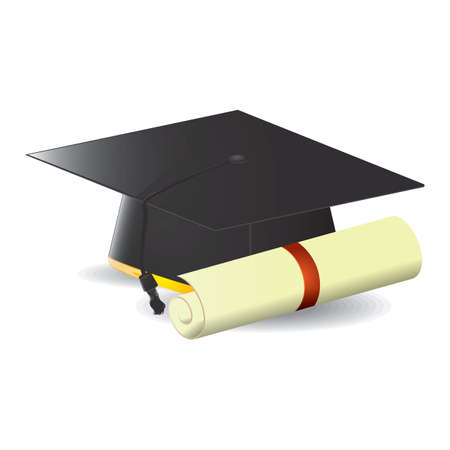 mortarboard: mortarboard with certificate