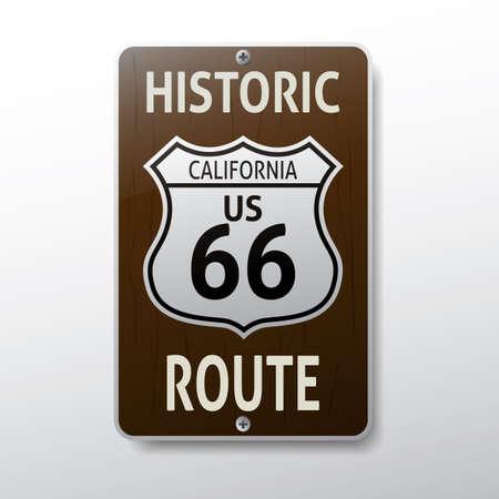 66: california 66 route sign