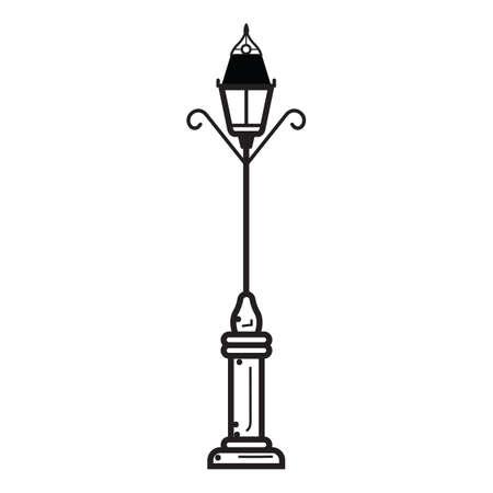 streetlamp: lamppost