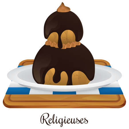 french board: religieuses Illustration
