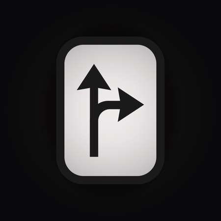 split: right turn split sign