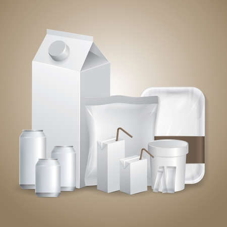 blank packaging collection Illustration