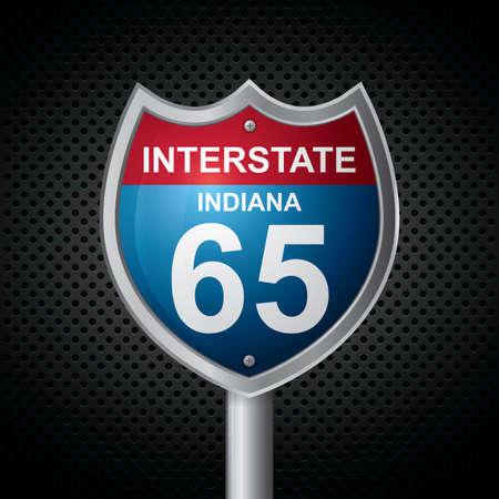 인디애나 65 경로 표지판