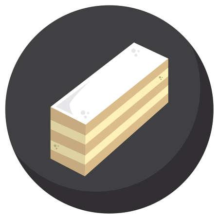 custard slice: mille feuille