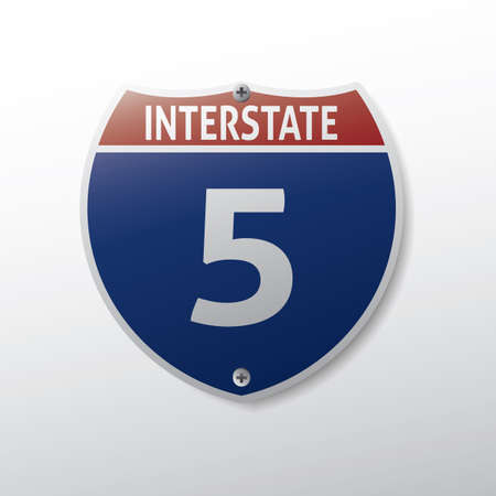 interstate: interstate 5 route sign