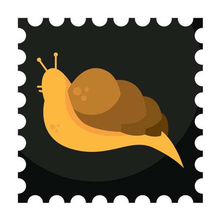 invertebrate: snail Illustration