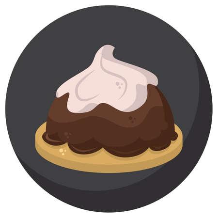 blanc: french dessert Illustration