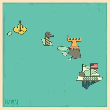 pearl harbor: hawaii state map