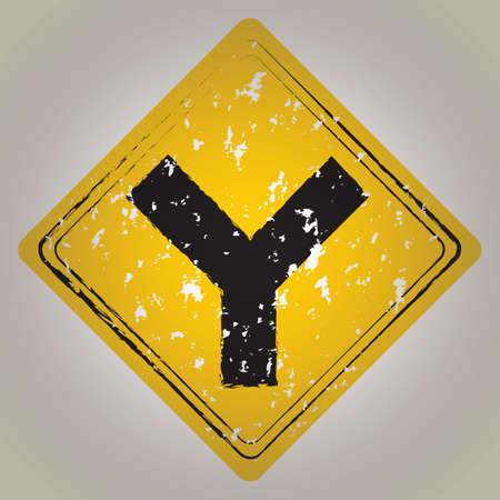 ahead: y intersection ahead sign