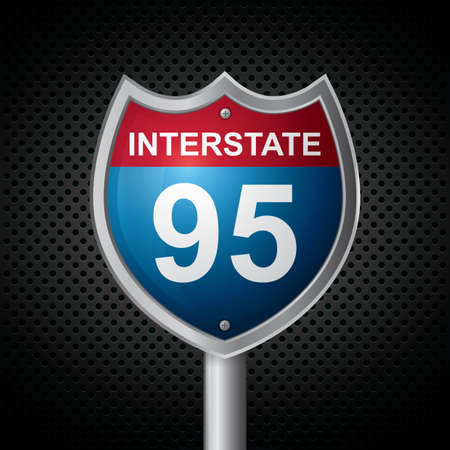 interstate: interstate 95 route sign