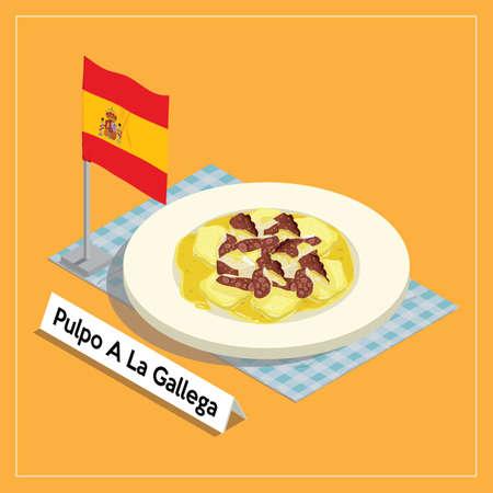 pulpo a la gallega served on plate