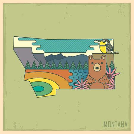 unites: montana state map