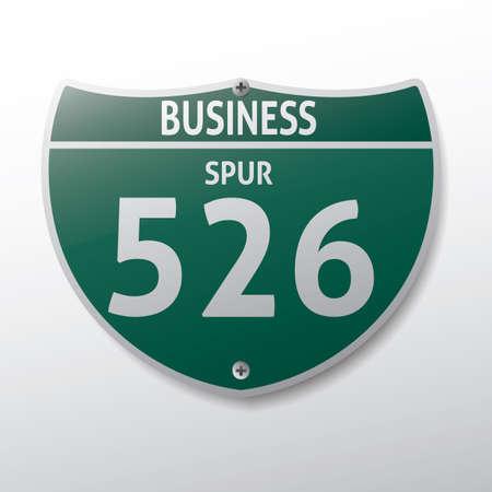 spur: business spur 526 route sign
