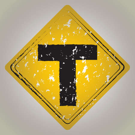 ahead: t intersection ahead sign