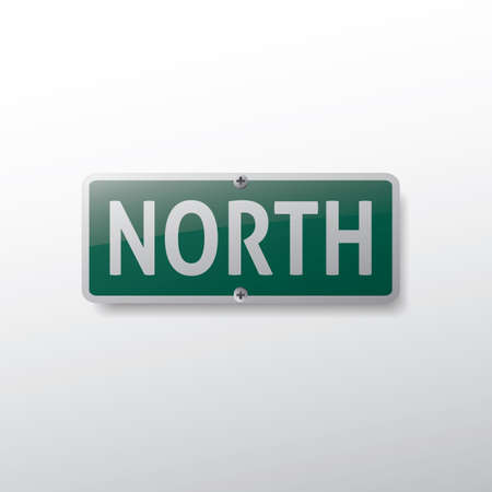 signage outdoor: north route sign