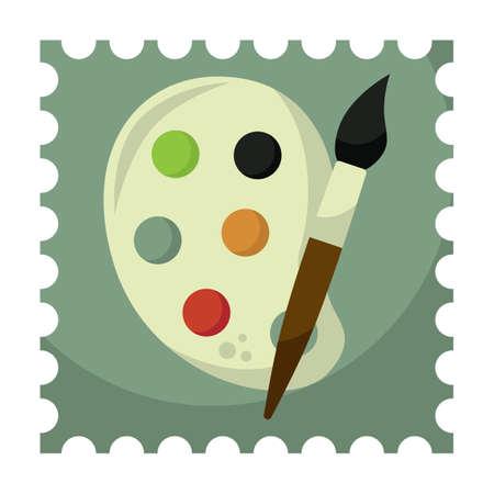 paint palette: paint palette with brush