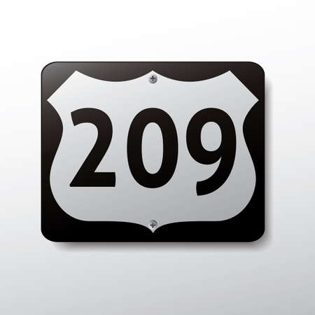 route: route sign 209 Illustration