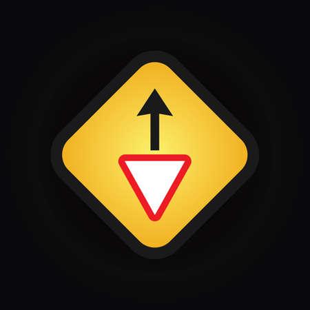 yield sign: yield ahead sign