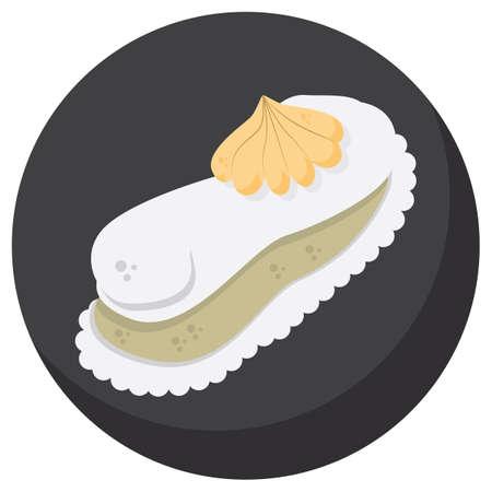 pasteleria francesa: francés postre Vectores