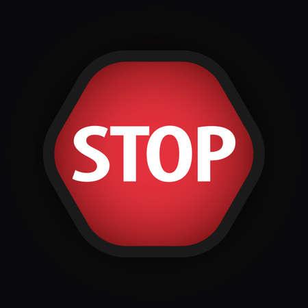 at sign: stop sign