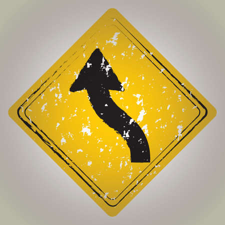 reverse: left reverse curve road sign