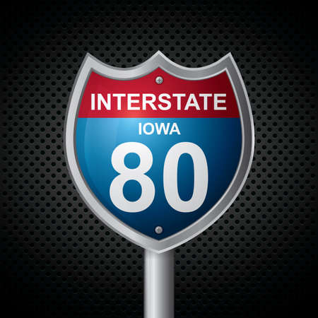 iowa: iowa 80 route sign