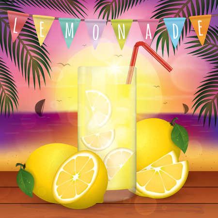 lemon juice: fresh lemon juice Illustration