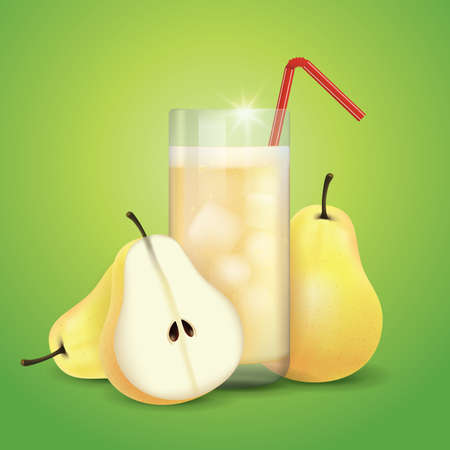slices: pear juice and slices