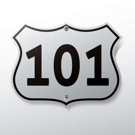 highway signs: route sign 101 Illustration
