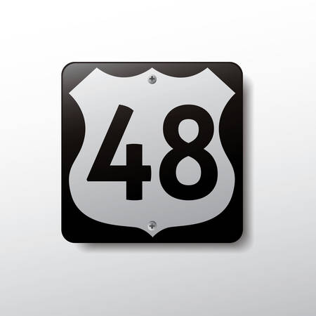 48: route sign 48 Illustration