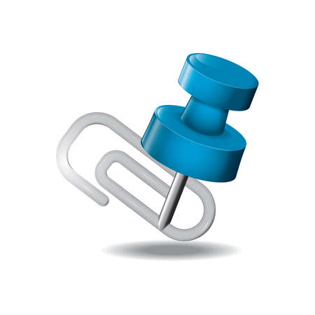 paperclip: paperclip with pin