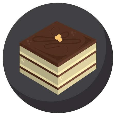 opera: opera cake Illustration