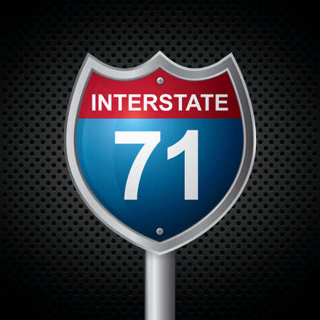 interstate: interstate 71 route sign